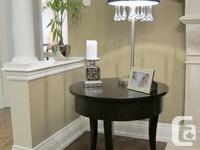 Designer side table - solid wood in dark chocolate