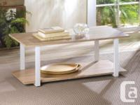 This coffee table is a modern take on simple design!
