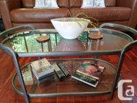 Flawless, barley used, beautiful brown leather sofa and