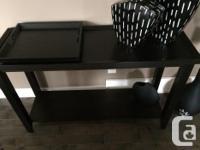 "Contemporary Design includes - Sofa Table 42""W x 16"" D"
