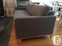 "Modern style, near-perfect condition ""Tuxedo"" Sofa from"