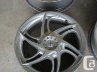 "Offering my 4 Momo (Italy) Double 17"" wheels. When"