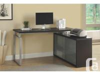 Executive L-shaped office desk. Excellent condition and