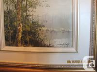 THIS IS A BEAUTIFULLY FRAMED OIL PAINTING BY PARIS