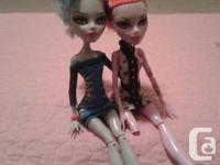 2 Monster High dolls for sale.  One of them had an
