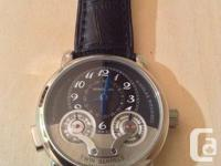 Mont Blanc Flyback.  stainless steel. crystal sapphire