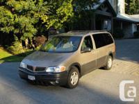 Marketing my 2001 Pontiac Montana van.  187000