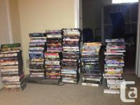 I have virtually 3 full boxes of DVD's. All the DVD's