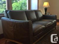 High end pure leather three seater couch and love seat