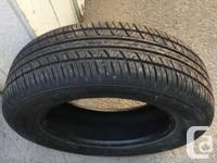 One gently used tire for SUV. Purchased in Feb 2018 as