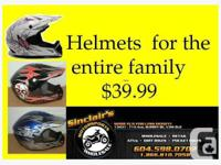 THAT'S RIGHT HELMETS EVEN FOR THE LITTLE KIDS AND