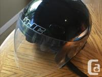 HJC woman's motorcycle helmet perfect for ride along,