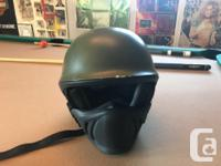 Large sized helmet, marks on it are from abrasion,