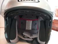 Motorcyle Helmet, sliver gray in color. Used only 5
