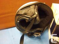 2 HJC motorcycle helmets for sale. One is flat black