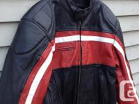 XXL very stylish motorcycle jacket made from heavy