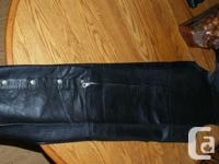 LEATHER JACKET, SIZE - LARGE -CONDITION NEW LEATHER