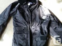 Rain Coat is size xxs. $50 Small spot of white paint on