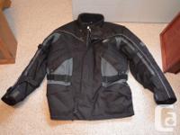 GKS Ganka 2 piece ballistic nylon men's riding suit.