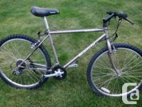 Bianchi Ocelot 21-speed Mountain bicycle. It has a
