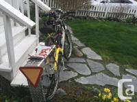 Selling this bike with a helmet - light - back guard -