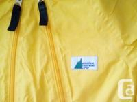 This is a one piece rain jumper by Mountain Co-Op for