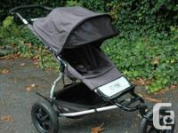 Stroller in great condition (no fading) with bar and