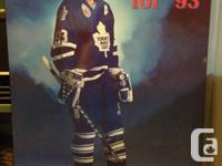 Mounted poster of hockey legend and Maple Leaf's star
