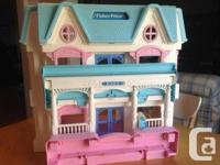Vintage Fisher Price Loving family doll house circa