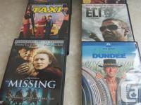 Assortment movie DVD titles at $3. EACH, ABSOLUTELY