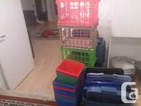 ARE YOU MOVING? OR PACKING?   these stackable bins are