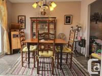 Pretty antique dining room set, priced to go!   The