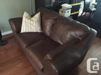 Leather Couch and Love Seat - great shape - for sale.