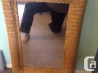 High quality rattanmirror is 32 inches long and 22