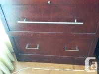 1. Maroon Chester Drawer: $10 2. Couch with 2 chairs: