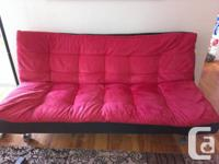 Moving sale: Leon Futon in great condition with a suede
