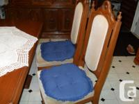 For sale a buffet,hutch, table and six chairs. Solid