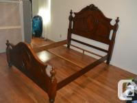 Solid wood QUEEN BEDROOM SET, made in Vietnam, asking
