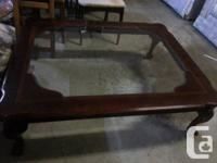 *dining table set with leaf & 6 chairs $150-------sold