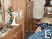 queen bedroom set-Bed-$100-Mirror dresser-$120-Tall