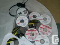 I am offering a player as well as 10 cds / dvds of