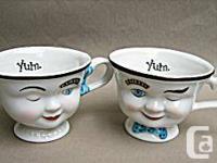 Both Mr. and Mrs. Baileys Irish Cream Coffee Cups are