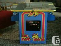 SELLING MY MINT MS PAC MAN COCKTAIL ARCADE GAME. THIS, used for sale  Ontario