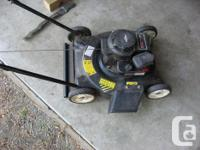 This is a basic MTD push mower, 4 1/2hp Briggs and