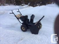 "Runs great, brand new belt February 2019, 8hp 24""."
