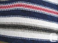 Striped Sweater - multi color, 100% cotton - round
