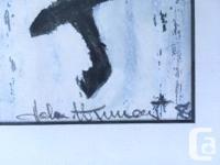 """Stunning Multi Media Original """"Dark Horse"""" Signed by"""