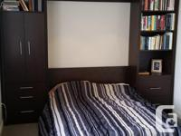 Murphy double wall bed, less than a year old. Contains