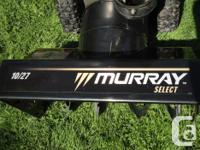 Well maintained Murray 27 inch Dual Stage Snowblower -