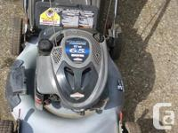 Nice shape--push type rear bag or mulch---starts and